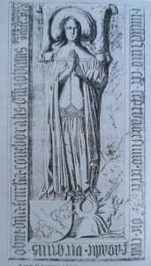 Płyta nagrobna Femki Borkowej w kościele oo. Franciszkanów